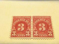 NICE BOBS-1931 #J86 3 CENT DOCUMENTARY  HORIZONTAL PR , MINT, OG , FINE