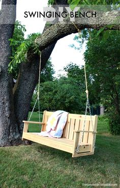 If you own a garden and have a family, then it is a sin to not have a swing. Swings are great for relaxing and it doesn't matter if you are a kid or an adult. There are different kind of swing you can make and to help you out finding the right swing, we have made a list that contains 20 different swings. Every swing has a tutorial that everyone can easily follow. #garden #swing #diyswing #porchswing #diytreeswing