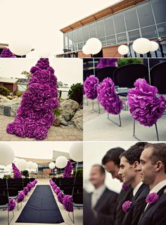 All paper flower wedding! what!?!? need to figure this out soo cute