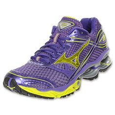The Mizuno Wave Creation 13 Women's Running Shoes are unbelievably smooth. Designed for comfort, these neutral shoes will provide your best running experience so far. A springy wave plate disperses shock, which reduces the impact on your body and returns it to your legs. A breathable, padded mesh upper soothes your feet while midsole ventilation keeps you cool with constant air circulation. These luxurious shoes offer nothing short of a quick, responsive ride that you're sure to love.