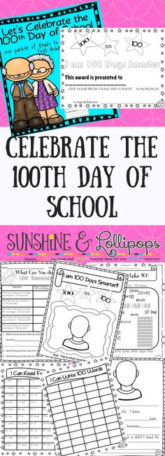 Some fun activities to celebrate the 100th Day of School. Integrated Math, writing, Word Work and more...use for stations or Daily 5 on the 100th day of school and it is only $1.50...ENJOY!