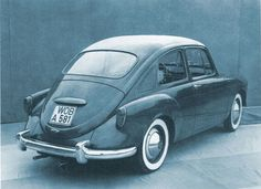 OG | 1957-59 Volkswagen / VW EA47 Type 3 | Prototype - Beetle replacement design proposal by Sergio Sartorelli from Ghia