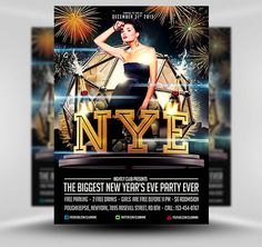 Free New year's Eve Flyer Template #Free #PSD #Photoshop #Flyer #Poster #Template #FlyerHeroes #Saltshaker911