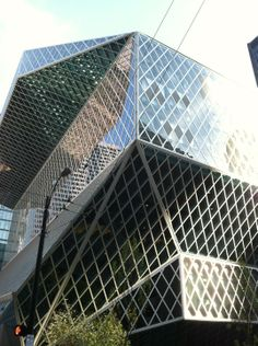 Seattle Public Library - just the outside of the building is a wonder to look at (seriously, think about the people who have to clean all those windows!). Inside is a huge library that offers everything you could ask for.