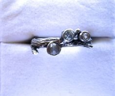 Unique Gemstone Ring Sterling Silver Twig 1 by GriffinsNestJewelry