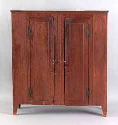 New York or New Jersey sycamore wall cupboard, 1