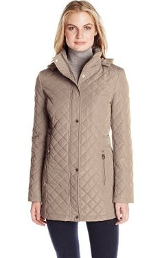 Calvin Klein Women's Classic Quilted Jacket with Side Tabs, Tawny Owl, XX-Small ❤ Calvin Klein Women's Outerwear