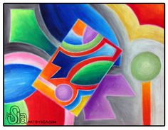 Art by Sia | Non Objective Abstract Design Project | 2013 | Oil pastels on bristol board --