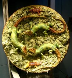 Palissy lizard plate