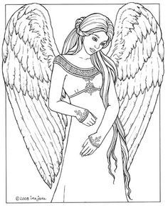 Beautiful Angel Coloring Pages Angels Stained Glass Coloring