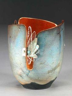 ☮ Ceramic porcelain art  WB 914 GlowPot
