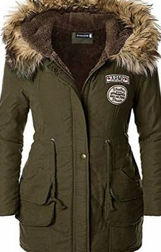 Black Fur Lined Military Parka Coat with Premium Fox Fur Trim