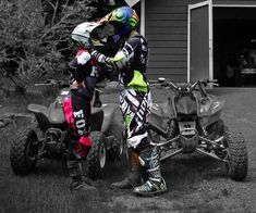 A couple that rides together stays together <3 be cuter if they were dirt bikes.