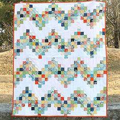 "Michelle Cain - Good Day Sunshine quilt TUTORIAL using 2.5"" scraps"
