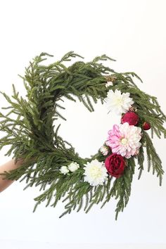 Create a stunning wreath for your front door with affordable artificial wreaths and silk flowers from Afloral.com. #fakeflowers #wreaths #wreathideas Fake Flowers, Dried Flowers, Silk Flowers, Christmas Greenery, Christmas Wreaths, Wreaths For Front Door, Door Wreaths, Greenery Wreath, Floral Wreath