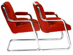 Pair of Mid Century Cantilever Chromcraft by Marykaysfurniture