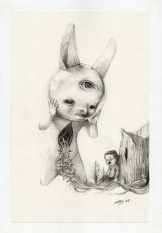 Roby Dwi Antono (Indonesia) - Batas Optik, 2012 Drawings: Pencil on Paper Illustration for short story by Jacob Julian.