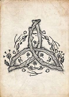 Imagem de earth, celtic, and flowers Druid Tattoo, Pagan Tattoo, Witch Tattoo, Wiccan Tattoos, Celtic Symbols, Celtic Art, Celtic Dragon, Witch Art, Celtic Designs