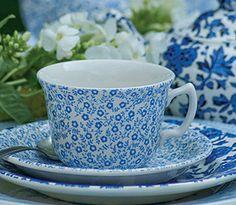 Teetasse von Burleigh Blue Felicity. www.kippax.de/Geschirr/Burleigh-Geschirr/