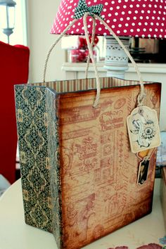 favorite home to visit: February 2012 Wooden Letter Crafts, Wooden Letters, Wooden Bag, Wooden Boxes, Decoupage Lamp, Decoupage Ideas, Diy Painting, Painting On Wood, Arte Country