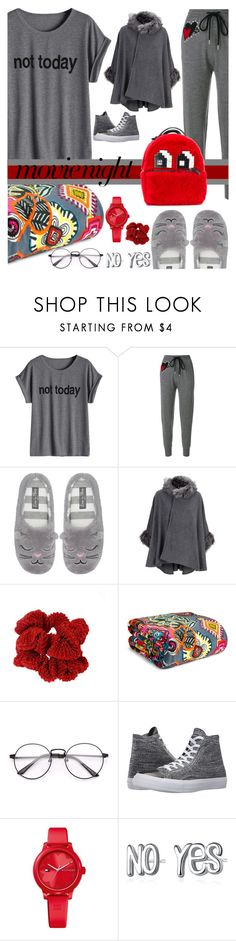 """""""Bring the Popcorn: Movie Night"""" by crochetragrug ❤ liked on Polyvore featuring Markus Lupfer, M&Co, Vera Bradley, Converse, Tommy Hilfiger and Les Petits Joueurs"""