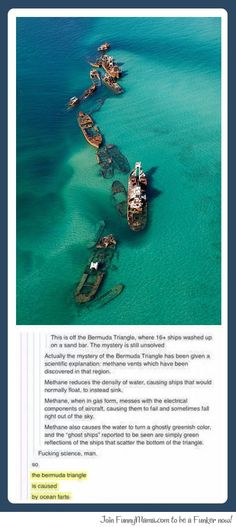 Funny pictures about The Mystery Of The Bermuda Triangle Is Finally Solved. Oh, and cool pics about The Mystery Of The Bermuda Triangle Is Finally Solved. Also, The Mystery Of The Bermuda Triangle Is Finally Solved photos. My Tumblr, Tumblr Posts, Tumblr Funny, Funny Memes, Hilarious, Funny Gifs, Wtf Fun Facts, Random Facts, Crazy Facts