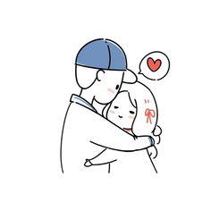 Cute Doodles Drawings, Cute Little Drawings, Cute Cartoon Drawings, Easy Drawings, Birthday Card Drawing, Simple Anime, Simple Doodles, Funny Love, Cute Wallpapers