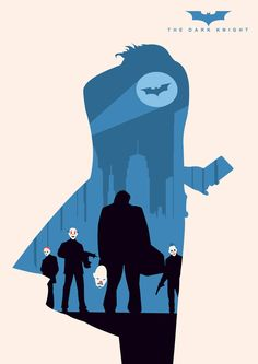 The Dark Knight ~ Minimal Movie Poster by Andy Grail