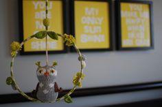 Owl mobile for baby nursery - #projectnursery