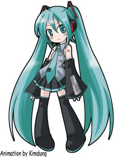 Hatsune Miku Looks kind of like the art style in Panty and Stocking :3