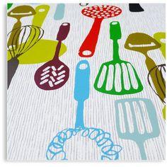 Kitchenware Kitchen Utensils limited edition hand printed hand drawn pop art silk screen prints by Patrick Edgeley Silk Screen Printing, Wood Blocks, Surface Pattern, Kitchen Utensils, Printmaking, Pop Art, How To Draw Hands, Kids Rugs, Colours