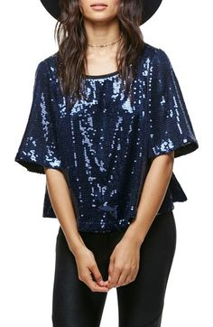 Free People Night Fever Sequin Tee available at #Nordstrom