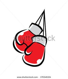 boxing gloves Cartoon Illustration