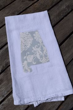 State of Alabama blue and cream floral print by lostartdesigns