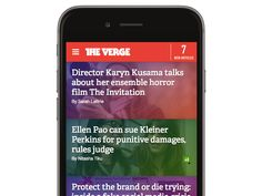 The Verge is a perfect example of tapable space and finger friendly buttons, read post titles with illustrations. Web Design Trends, 2015 Trends, Creative Design, Cool Designs, Finger, Buttons, Illustrations, Space, Top