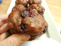 Weight watcher recipes.. 2 smart point Chocolate cherry greek yogurt muffins by drizzle me skinny
