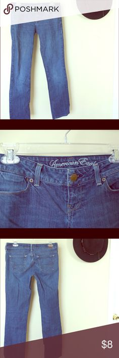 American Eagle jeans American eagle jeans. Size 4. Worn, but still in good condition. American Eagle Outfitters Jeans