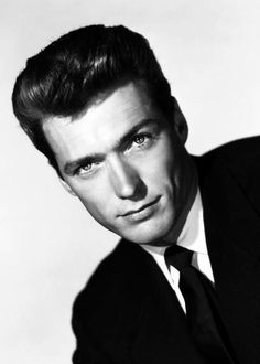 The last person that posted this said it is Clint Eastwood. I love Clint Eastwood, but are we sure it is him in THIS photo? Hollywood Stars, Classic Hollywood, Old Hollywood, Clint Eastwood, Famous Men, Famous Faces, Famous People, Gorgeous Men, Beautiful People
