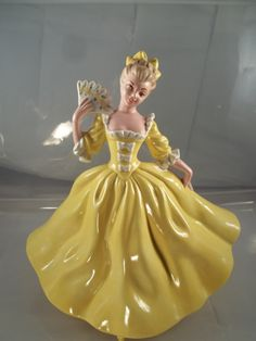 Vintage Southern Lady Figurine Gone With the by 3sisterssmalls, $27.99