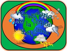 With this product you receive a weather glossary which is formatted into 16 different categories headings of 4 columns, 2 pages of over 150 Spanish words and English definitions; all related to conversations that you will have about weather and climate.