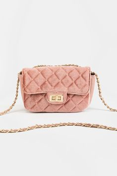 Jazzy Mini Quilted Velvet Crossbody Mauve, Chanel, Velvet, Shoulder Bag, Handbags, Mini, Classic, Essentials, Accessories