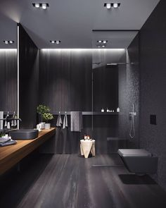 #AllofRenders Dark Bathroom ♥ Render by Denis Stepanov . Are you looking for a support for your interior and and architectural visuals ?…