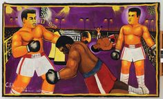 """Moke, """"Untitled"""" Artist from Democratic Republic of the Congo. Exhibition at Fondation Cartier African American Art, African Art, Fondation Cartier, African Paintings, Great Lakes Region, Lake Art, Plastic Art, Afro Art, Republic Of The Congo"""