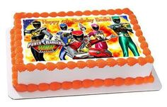 Power Rangers Dino Charge Edible Cake OR Cupcake Topper – Edible Prints On Cake (EPoC)
