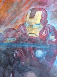 Zoom iron man. Acrylique sur toile 2015/06 Honorin NAIMO