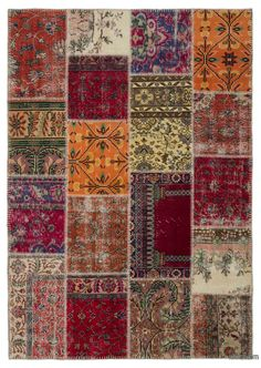 Vintage Patchwork Rugs Kilim Overdyed Hand Made Turkish Carpets By Com For The Home Pinterest