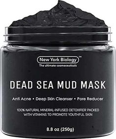 New York Biology Dead Sea Mud Mask for Face and Body - Natural Spa Quality Pore Reducer for Acne, Blackheads and Oily Skin - Tightens Skin for A Healthier Complexion - oz : Beauty Deodorant, Totes Meer, Dead Sea Mud, Healing Clay, Body Mask, Body Spa, Mascara, Best Face Mask, Clay Masks