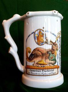 Wolpertinger Lied Bier Krug Scherzkrug Lithophanie Bavaria Beer Joke Mug Erotika | eBay