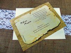 Vintage Προσκλητήρια Γάμου [Γ1557]