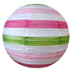 Stripe - hot pink, light pink & lime